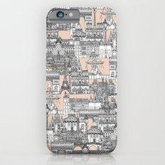 Paris toile sugar pink iPhone 6s Slim Case
