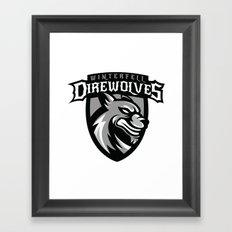 Direwolves Framed Art Print