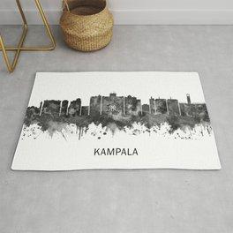 Kampala Uganda Skyline BW Rug