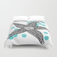 starfish Duvet Covers featuring starfish by Grapheides