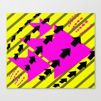 arrows Canvas Prints featuring ARROWS by Latidra Washington