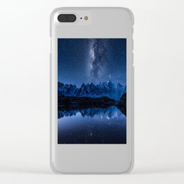 Night mountains Clear iPhone Case