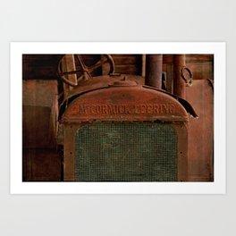McCormick Deering Tractor Art Print