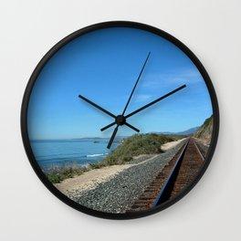 Costal Train Tracks Wall Clock