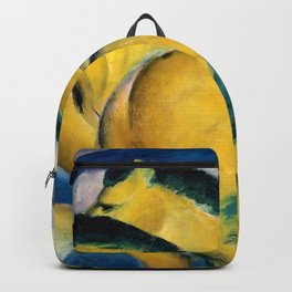 """Franz Marc """"Little Yellow Horses"""" Backpack"""
