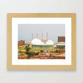 Kansas City Kauffman Center for the Performing Arts Tilt Shift Photograph Framed Art Print