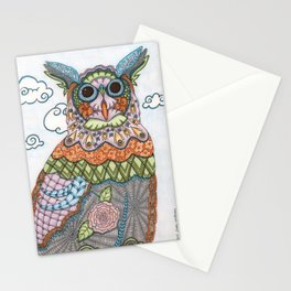 Decorative Owl Stationery Cards