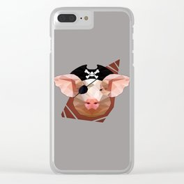 The Pirate Pig Clear iPhone Case