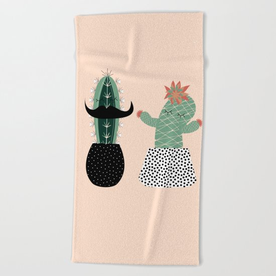 Mr. and Mrs Succulent Beach Towel