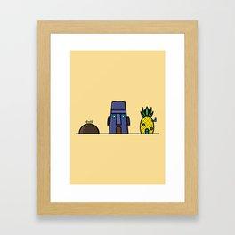 Spongebob's House Framed Art Print