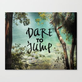 Dare to Jump Canvas Print
