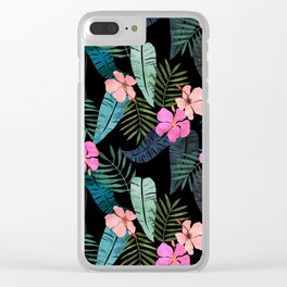 Island Goddess Tropical Black Clear iPhone Case