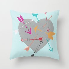 Arrow Heart Throw Pillow