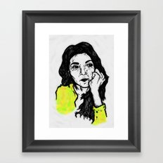 Selfy: Andrea Framed Art Print