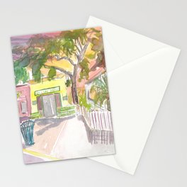 Key West Street Scene With Key Lime Bakery Stationery Cards