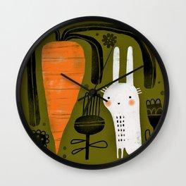 CARROT & RABBIT Wall Clock