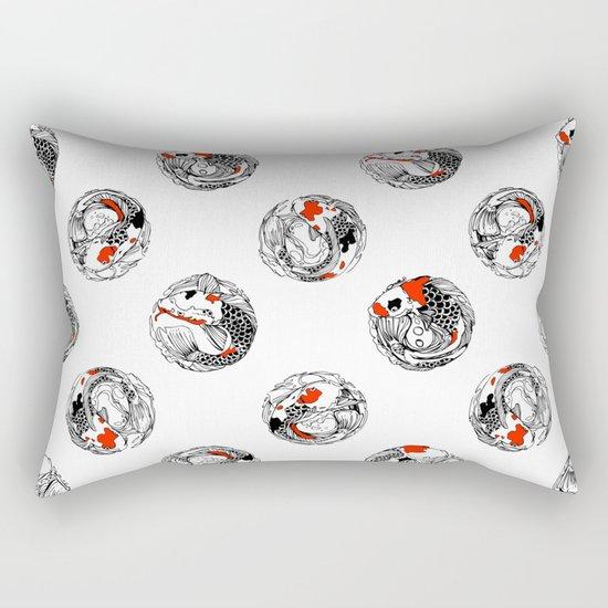 Polka koi Rectangular Pillow