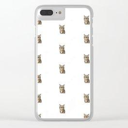 Polka Cat Original Clear iPhone Case
