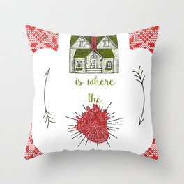 Home is where the heart is :-) Throw Pillow