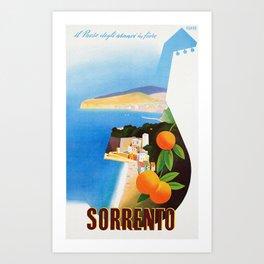 Vintage Sorrento Italy Travel Ad Art Print