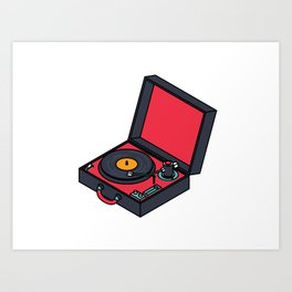 Retro Turntable Art Print