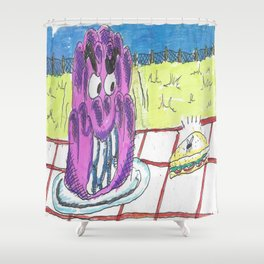 The Jelly Monster! Shower Curtain