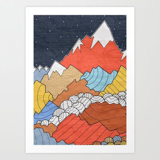 Rocky Mounts Art Print