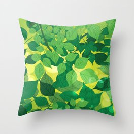 Leaves 1 Throw Pillow