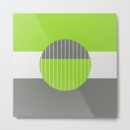 Lime Pastel Geometry Metal Print