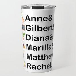 Anne of Green Gables Names Travel Mug