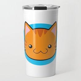 Love Cats: Orange Tabby Travel Mug