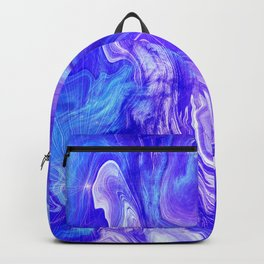 Deep Blue Marble With Lilac Vein Accents Backpack