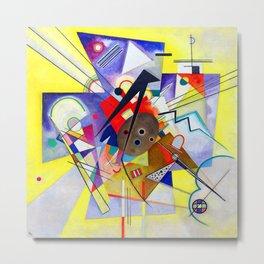 Wassily Kandinsky Yellow Accompaniment Metal Print
