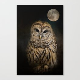 Barred Owl and the Moon Canvas Print