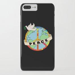 World Peace, Dove, Peace Sign, Earth iPhone Case