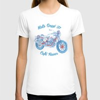 cafe racer T-shirts featuring moto guzzi - cafe racer by dareba