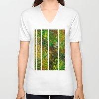 darren criss V-neck T-shirts featuring Criss Cross by Heidi Fairwood