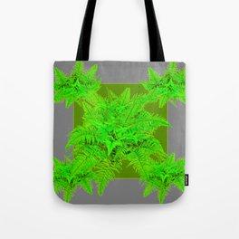 REFRESHING  NATURAL GREEN FERNS  GREY ART Tote Bag