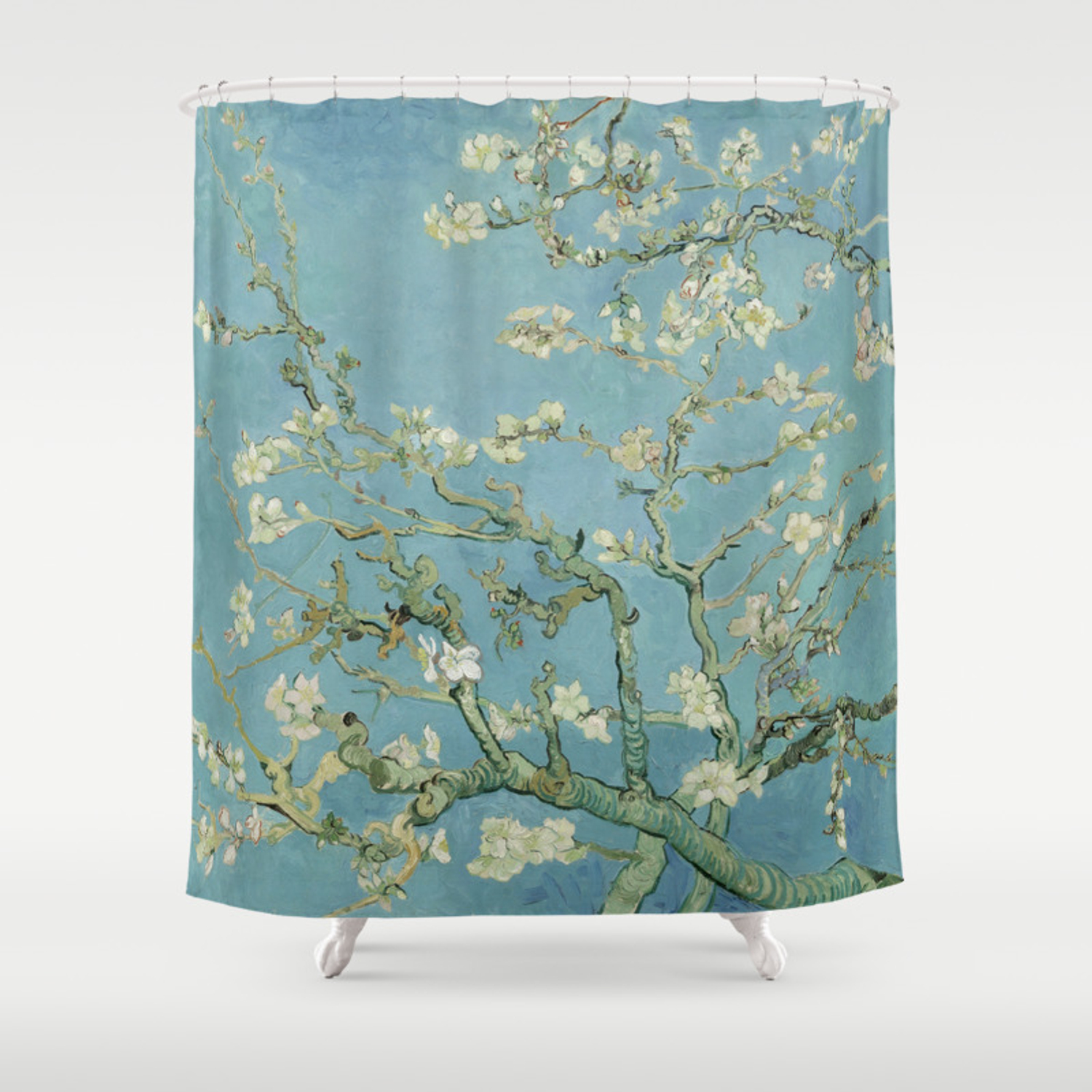 Classic Art Vincent van Gogh in your Bathroom Almond Blossoms Shower Curtains