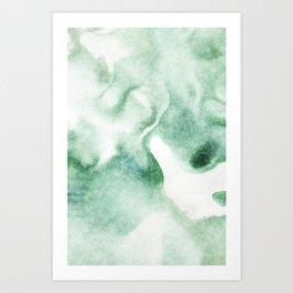 stained fantasy greenish milk Art Print