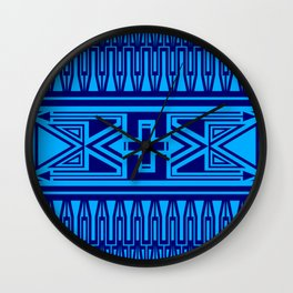 The Gathering (Blue) Wall Clock