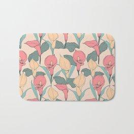 Calla Lilies pattern Bath Mat
