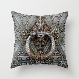 the door keeper Throw Pillow