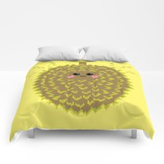 Happy Pixel Durian Comforters