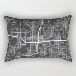 Orlando Map, USA - Gray Rectangular Pillow