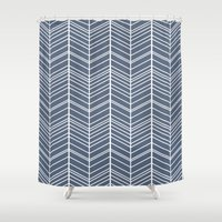 arrow Shower Curtains featuring Arrow by Amy Harlow