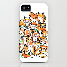 Fox family iPhone Case