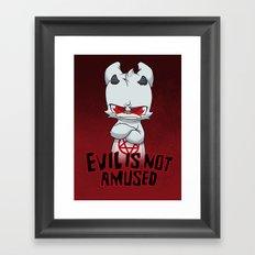 Cranky Evil Framed Art Print