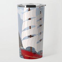 Red ship Travel Mug