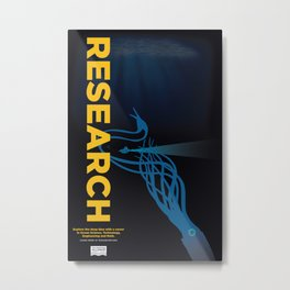 RESEARCH Metal Print
